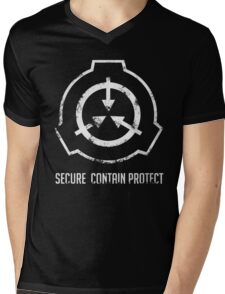 SCP: Secure. Contain Protect Mens V-Neck T-Shirt