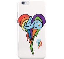 Rainbow Dash Pixel Art Heart iPhone Case/Skin
