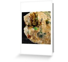 Botryoidal Malachite with Azurite Greeting Card