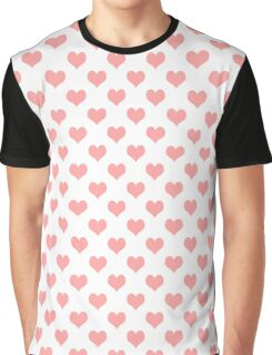 Seamless pattern with pink hearts Graphic T-Shirt