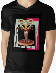 Dessert is servant by Darryl Kravitz Mens V-Neck T-Shirt