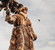 Kazakh Eagle Hunter of Mongolian Altai  Sticker
