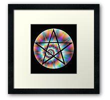 Pentagram Rainbow Framed Print
