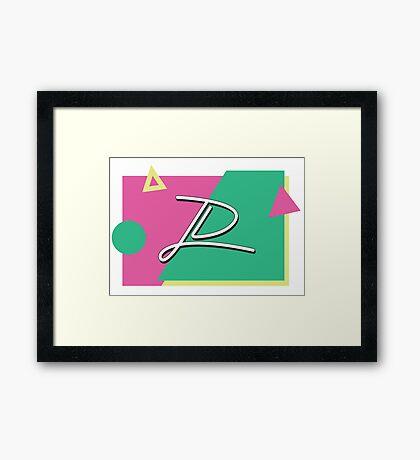 JD 80's Framed Print