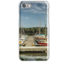 Yacht in water iPhone Case/Skin