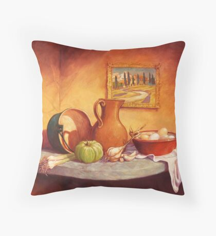 Da Toscano Fattoria Throw Pillow