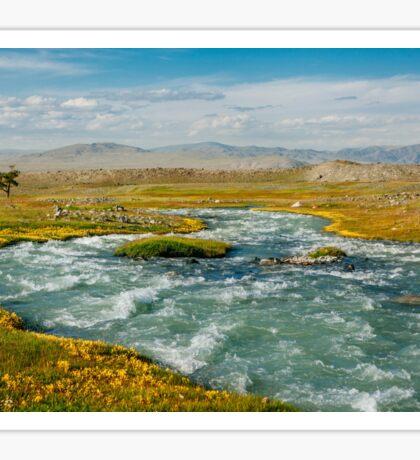 Glacial River in Mongolia  Sticker