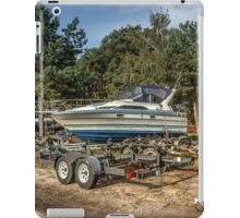 Yacht on the shor iPad Case/Skin