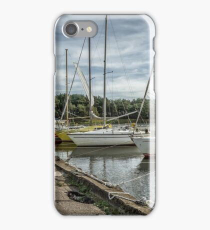 Moored yachts iPhone Case/Skin
