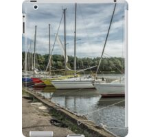 Moored yachts iPad Case/Skin