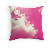 Cloudy Floss Throw Pillow