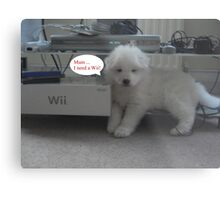 OUR Wii PUPPY- NEEDS A Wii Metal Print