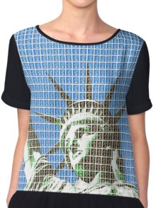 Liberty - Blue Chiffon Top