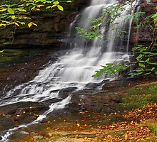 Honey Run Waterfall by Kenneth Keifer