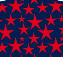 Red stars on bold blue background Sticker