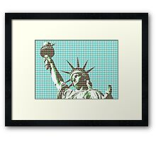 Liberty - Light Blue Framed Print