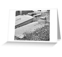 old grave Greeting Card
