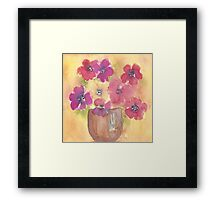 Pot of anemones Framed Print