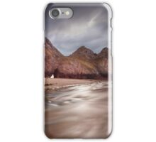 Low tide at Three Cliffs Bay iPhone Case/Skin