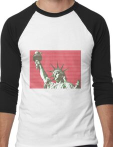 Liberty - Red Men's Baseball ¾ T-Shirt
