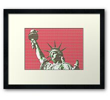 Liberty - Red Framed Print
