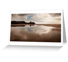 Reflections of Three Cliffs Bay Greeting Card