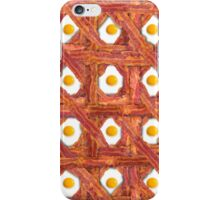 Bacon And Eggs For Breakfast iPhone Case/Skin