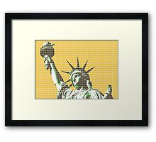 Liberty - Yellow Framed Print