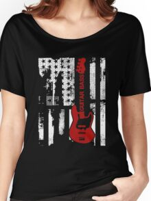 Guitar Bass Shirt Women's Relaxed Fit T-Shirt