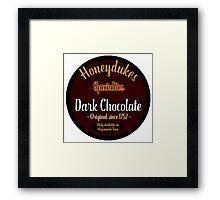 Honeydukes Chocolate - Dark!Version Framed Print