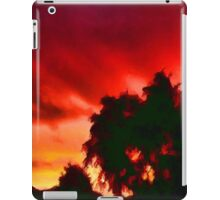 Weeping Tree Silhouette against the Sunset 1 iPad Case/Skin
