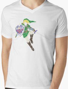 Link Typography Mens V-Neck T-Shirt