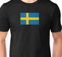 Swedish Flag T-Shirt - Sweden Sports Team Sticker Unisex T-Shirt