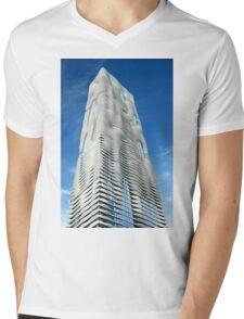 Aqua Tower Chicago Mens V-Neck T-Shirt
