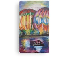 Oil Hot Air Balloons Canvas Print