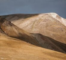 Storm Descends over Kyrgyz Mountains Sticker