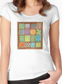 Colorful Petit Fours Women's Fitted Scoop T-Shirt