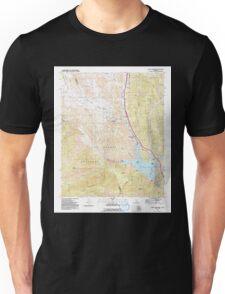 USGS TOPO Map California CA Black Mountain 299929 1991 24000 geo Unisex T-Shirt