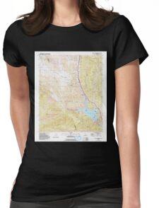 USGS TOPO Map California CA Black Mountain 299929 1991 24000 geo Womens Fitted T-Shirt