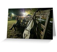 Evening at the Dorrigo Folk and Bluegrass Festival Greeting Card