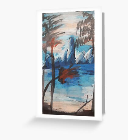 Oil Blue Mountains Greeting Card