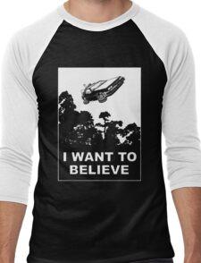 I believe in Delorean Men's Baseball ¾ T-Shirt