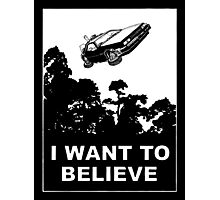 I believe in Delorean Photographic Print