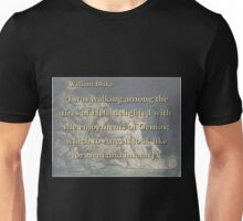 I Was Walking Among the Fires - W Blake Unisex T-Shirt