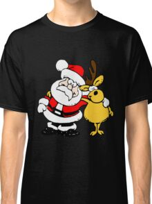 Santa Claus with a Deer Classic T-Shirt