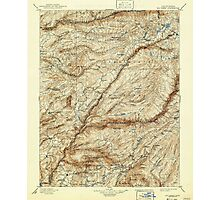 USGS TOPO Map California CA Big Trees 299225 1901 125000 geo Photographic Print