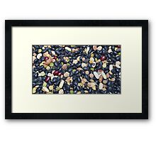 beans, mixed colours Framed Print