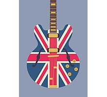 Oasis Union Jack Guitar (Slate) Photographic Print