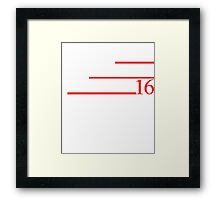 NASTY WOMAN 2016 T-SHIRT Framed Print