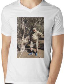 Mark in Camo Mens V-Neck T-Shirt